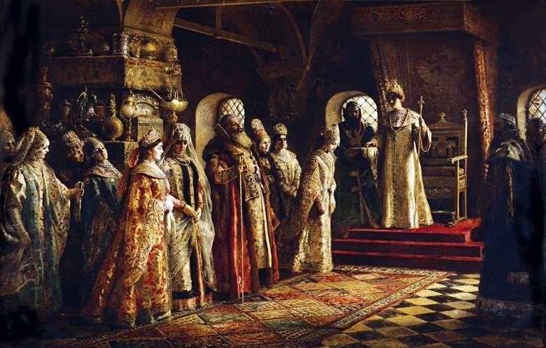 Описание картины Константина Маковского «Выбор невесты»