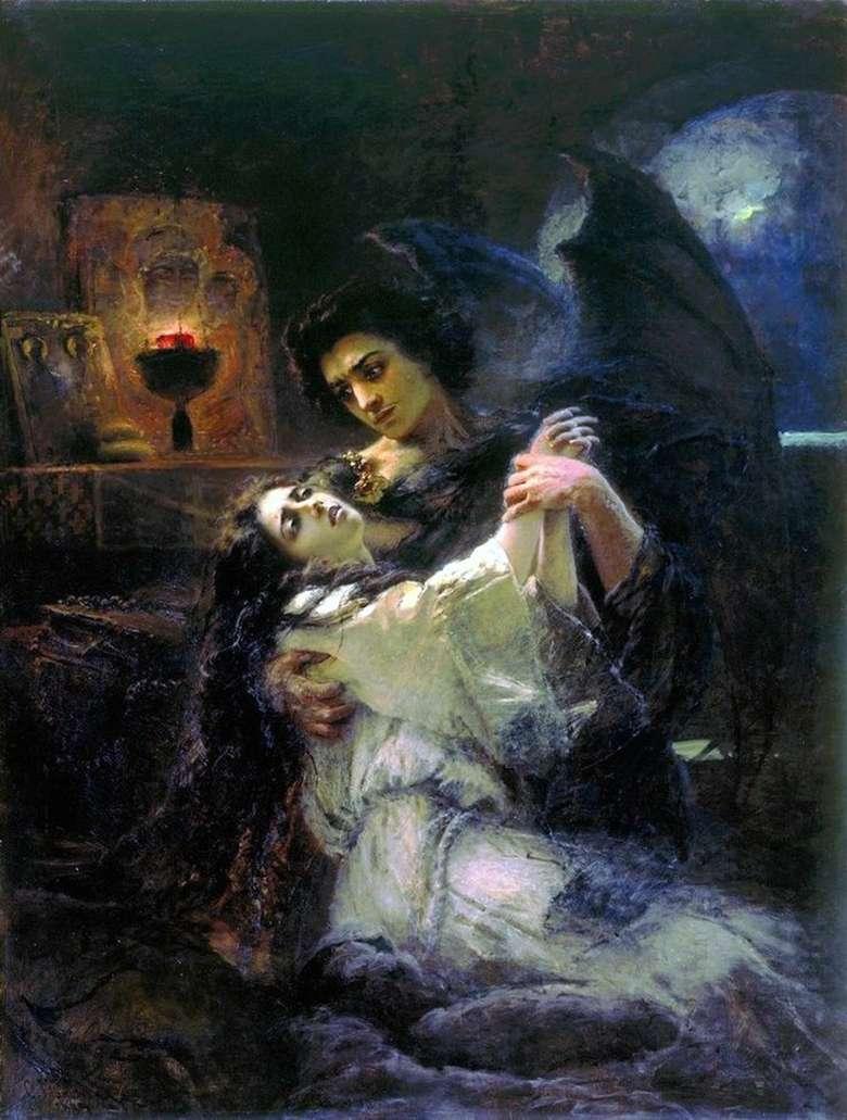 Описание картины Константина Маковского «Тамара и Демон»