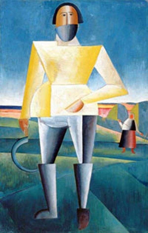 Описание картины Казимира Малевича «Жнец»