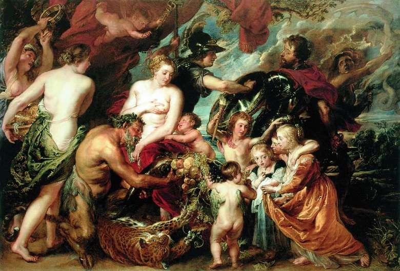 Описание картины Питера Рубенса «Аллегория войны и мира»