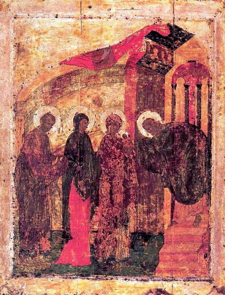 Описание иконы Андрея Рублева «Сретение»