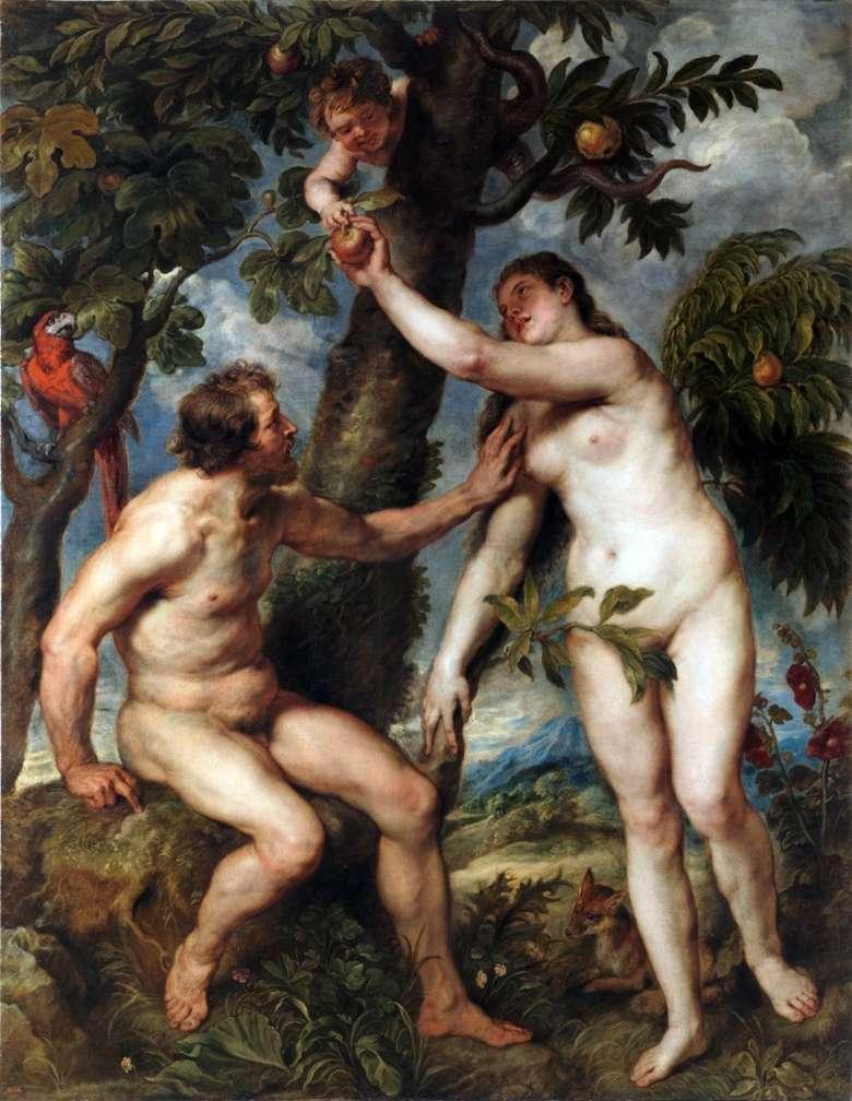 Описание картины Питера Рубенса «Адам и Ева»