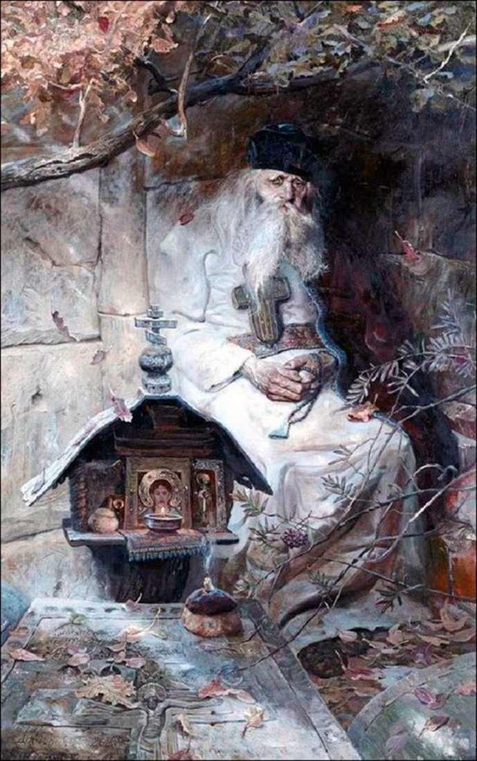 Описание картины Павла Рыженко «Молитва»