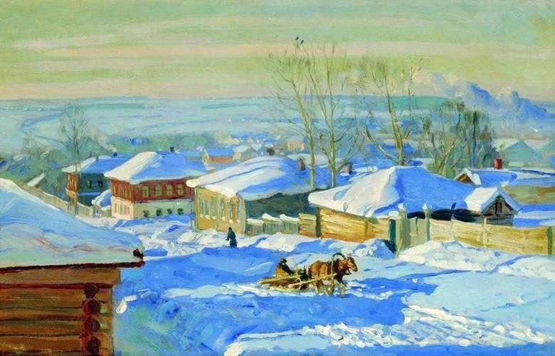 Описание картины Станислава Жуковского «Зима»