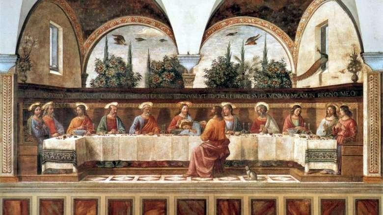 Описание фрески Доменико Гирландайо «Тайная Вечерня»