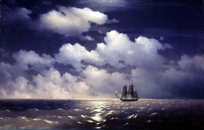 Описание картины Ивана Айвазовского «Бриг «Меркурий» после победы над двумя турецкими судами»