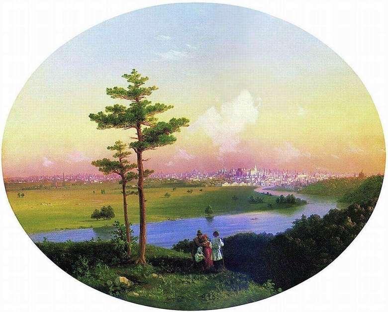 Описание картины Ивана Айвазовского «Вид на Москву с Воробьевых гор»