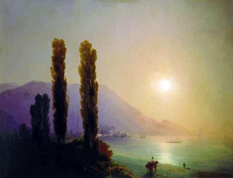 Описание картины Ивана Айвазовского «Восход солнца у берегов Ялты»