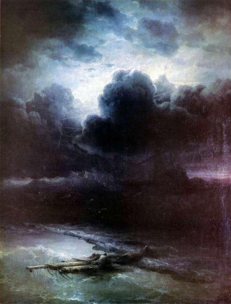 Описание картины Ивана Айвазовского «Гроза»