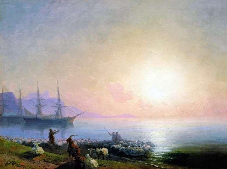Описание картины Ивана Айвазовского «Купание овец»