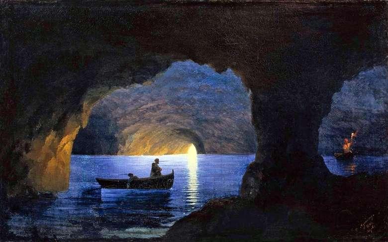Описание картины Ивана Айвазовского «Лазоревый грот. Неаполь»