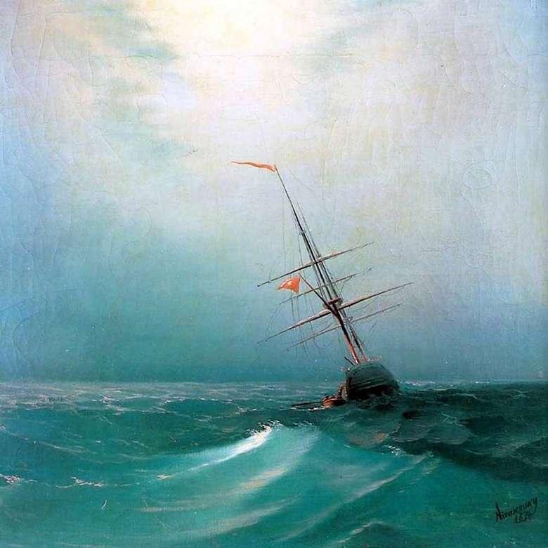Описание картины Ивана Айвазовского «Ночь. Голубая волна»