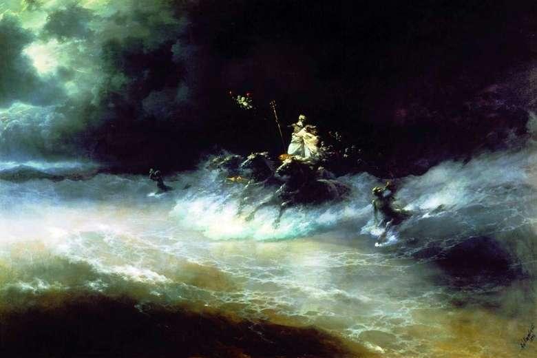 Описание картины Ивана Айвазовского «Путешествие Посейдона по морю»