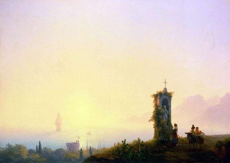 Описание картины Ивана Айвазовского «Часовня на берегу моря»