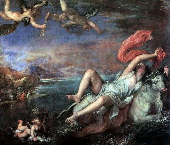 Описание картины Тициана Вечеллио «Похищение Европы»