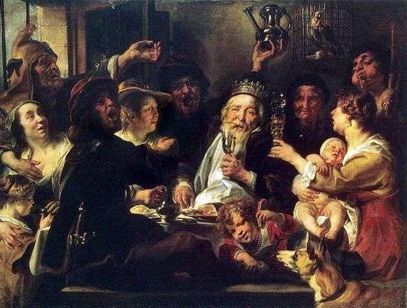 Описание картины Якоба Йорданса «Бобовый король»