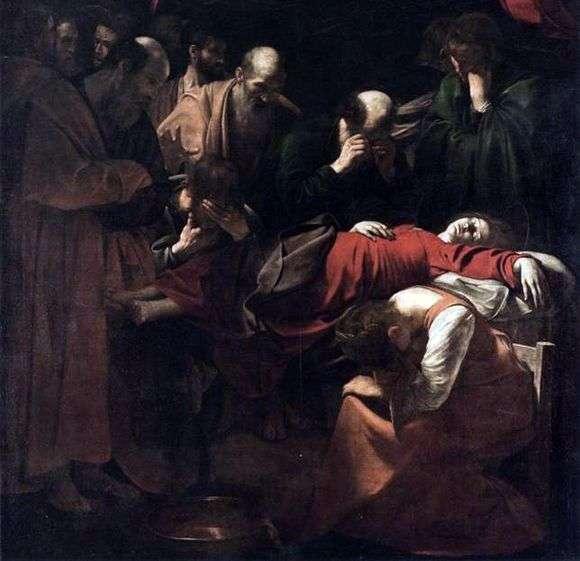 Описание картины Микеланджело Меризи да Караваджо «Смерть Марии»