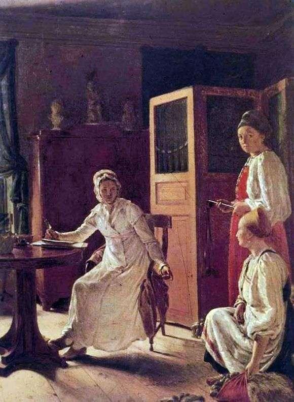 Описание картины Алексея Венецианова «Утро помещицы»
