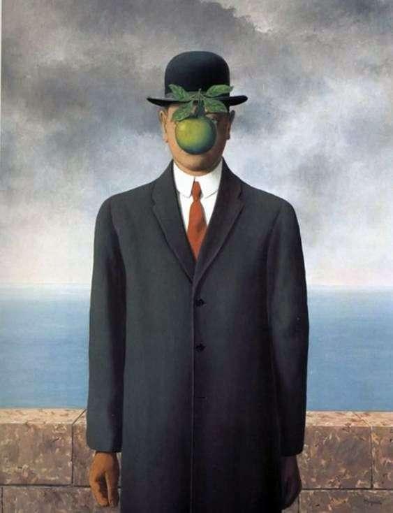 Описание картины Рене Магритта «Сын человеческий»