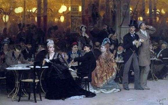Описание картины Ильи Репина «Парижское кафе»