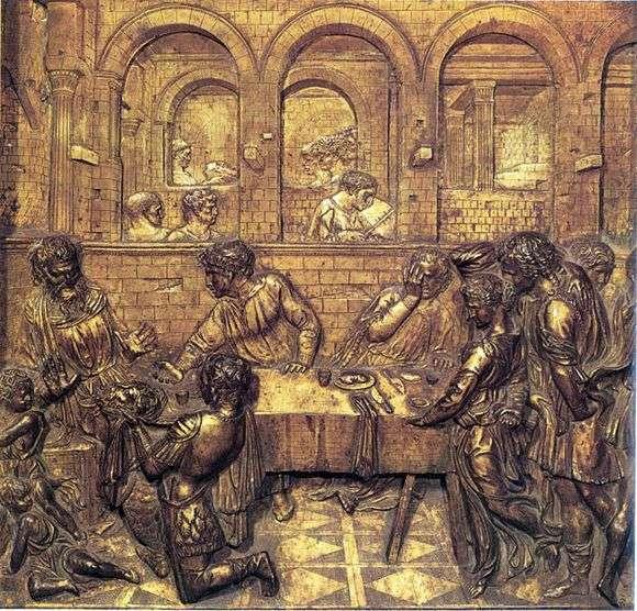 Описание рельефа Донателло «Пир Ирода»