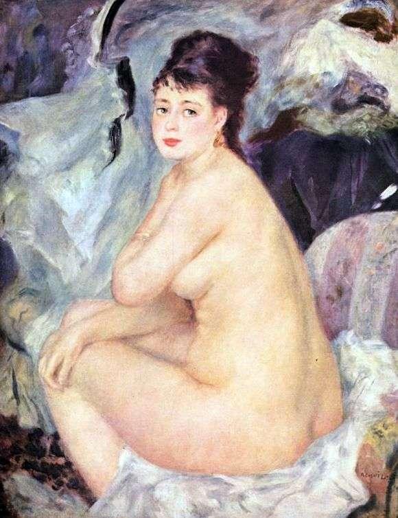Описание картины Пьера Огюста Ренуара «Обнаженная»