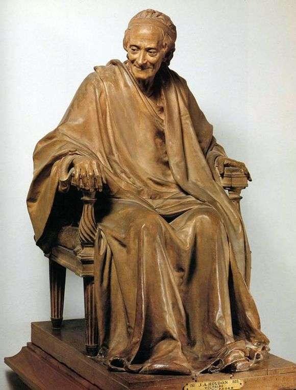 Описание скульптуры Жана Гудона «Вольтер»