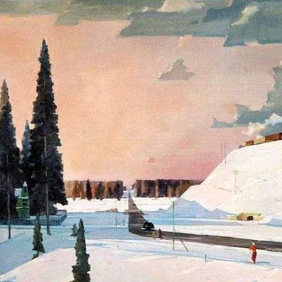Описание картины Георгия Нисского «Февраль. Подмосковье»