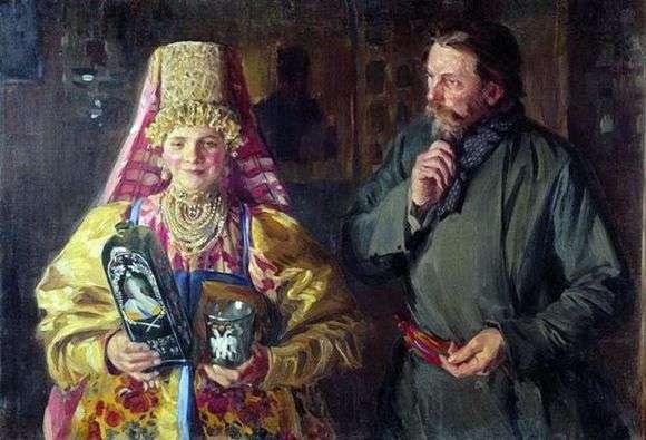 Описание картины Ивана Куликова «С праздником»