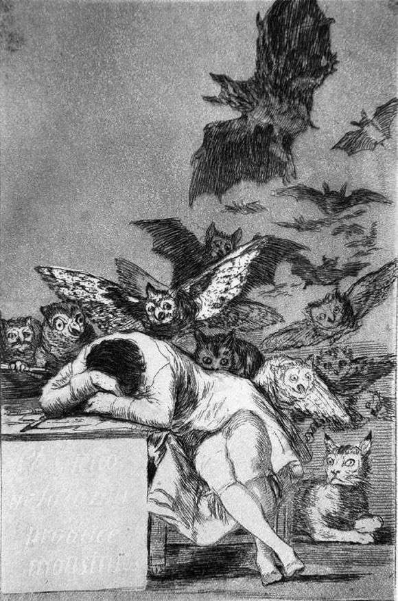 Описание картины Франциско де Гойя «Сон разума рождает чудовищ»
