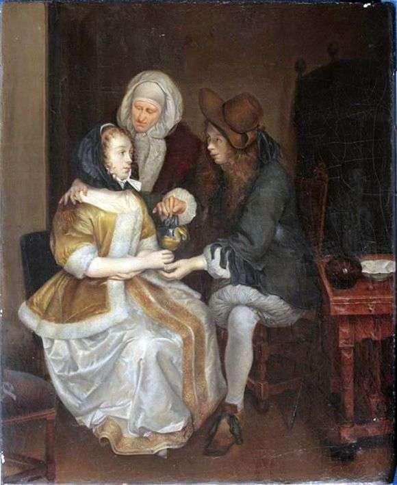 Описание картины Герарда Терборха «Бокал лимонада»