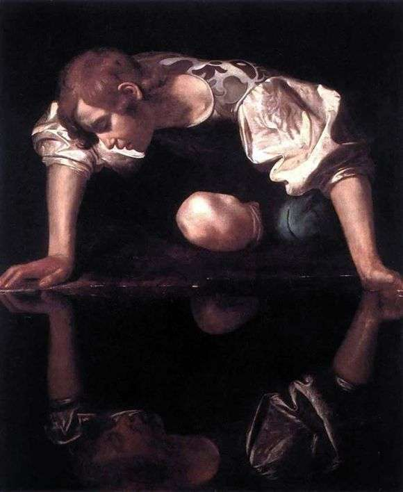 Описание картины Микеланджело Меризи да Караваджо «Нарцисс»