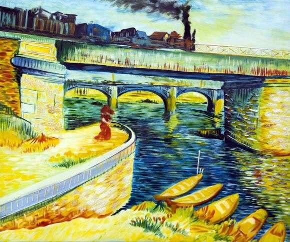 Описание картины Винсента Ван Гога «Мосты через Сену»
