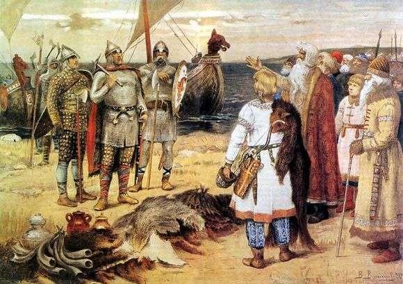 Описание картины Виктора Васнецова «Варяги»