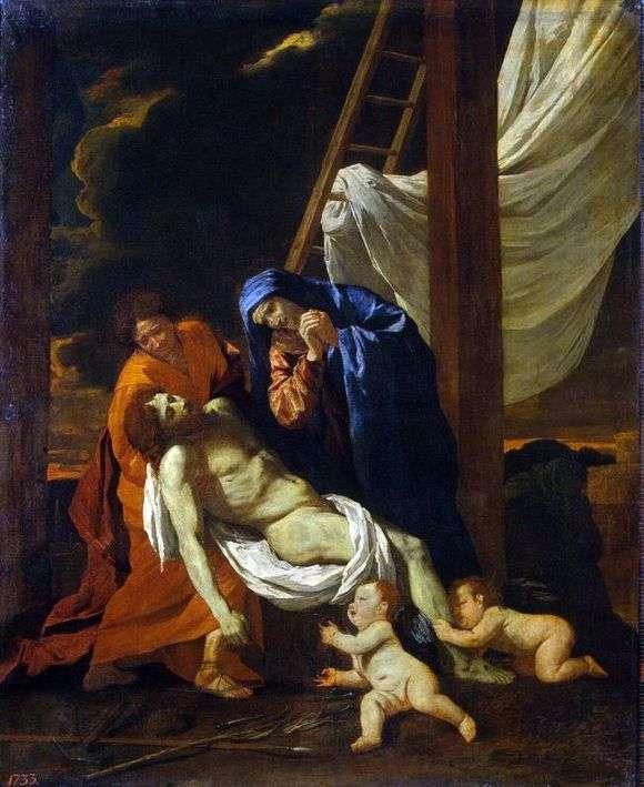 Описание картины Николы Пуссена «Снятие с креста»