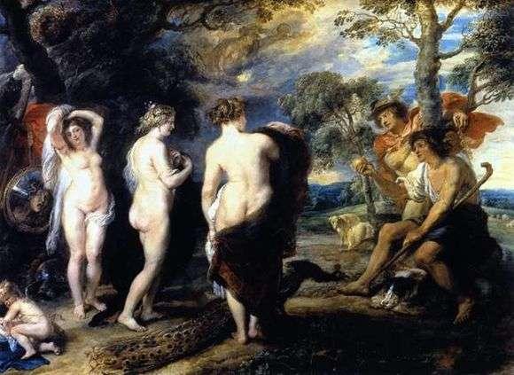 Описание картины Питера Рубенса «Суд Париса»