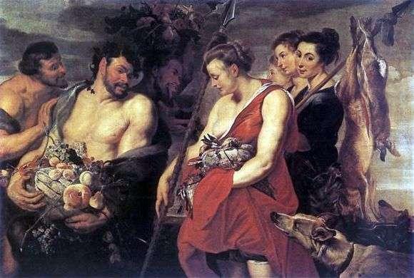 Описание картины Питера Рубенса «Возвращение Дианы с охоты»