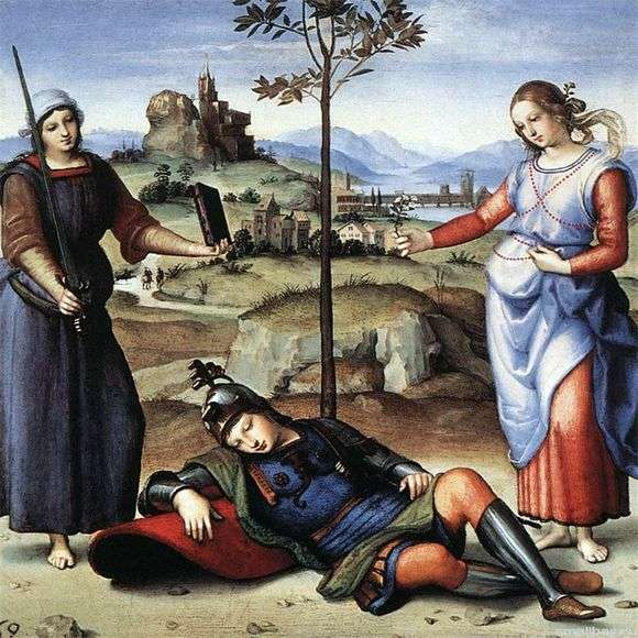 Описание картины Рафаэля Санти «Сон рыцаря»
