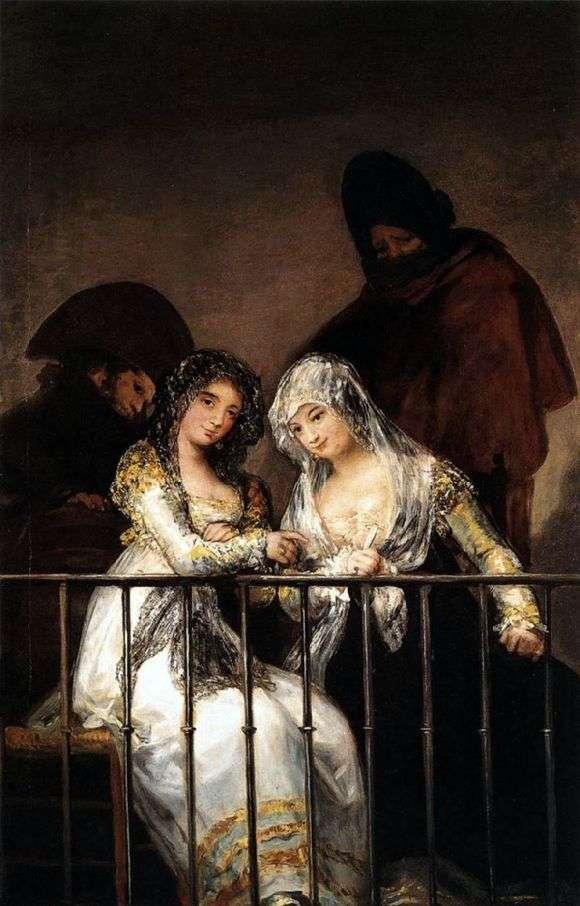 Описание картины Франциско де Гойя «Махи на балконе»