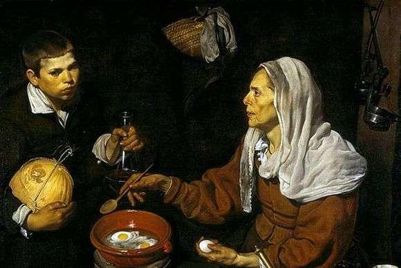 Описание картины Диего Веласкеса «Старая кухарка»