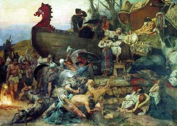 Описание картины Генриха Семирадского «Похороны знатного руса»