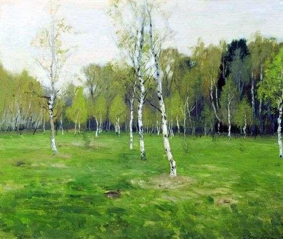 Описание картины Станислава Жуковского «В мае»