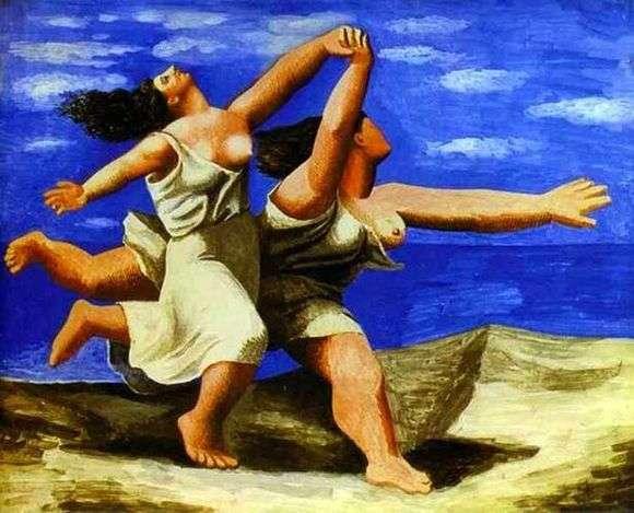 Описание картины Пабло Пикассо «Две женщины, бегущие по пляжу»