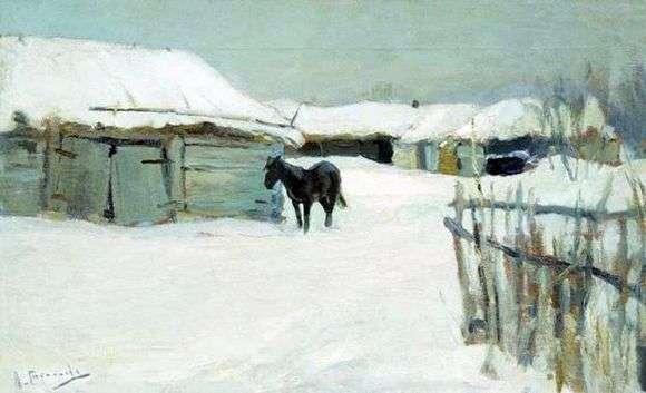 Описание картины Алексея Степанова «В деревне»