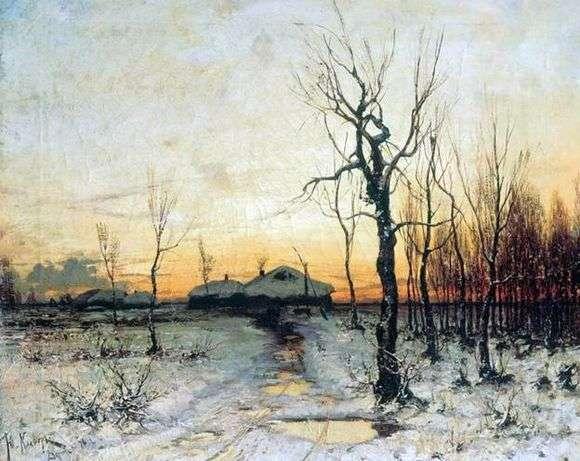 Описание картины Юлия Клевера «Зима» (Зимний пейзаж)