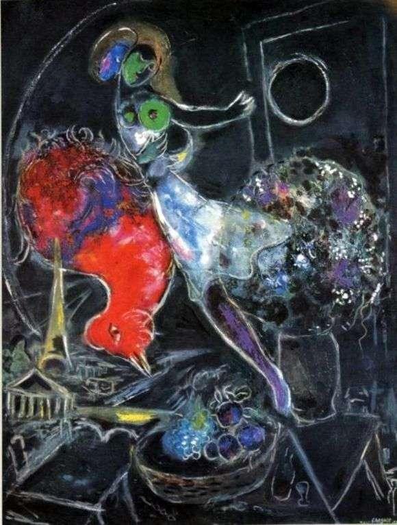 Описание картины Марка Шагала «Ночью»