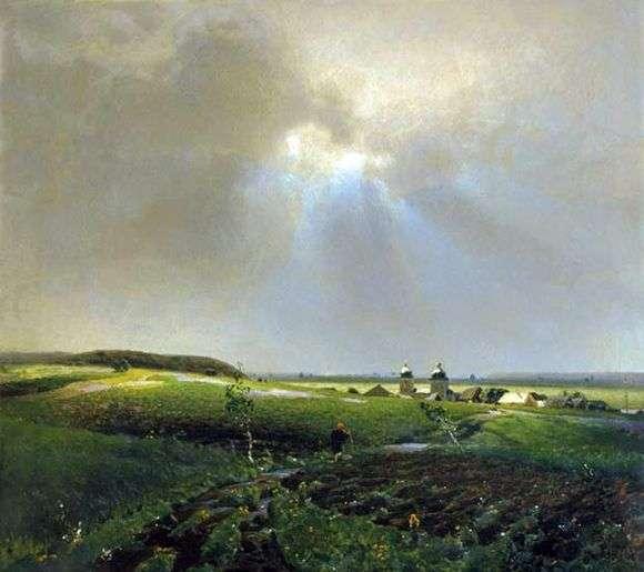 Описание картины Аполлинария Васнецова «После дождя»