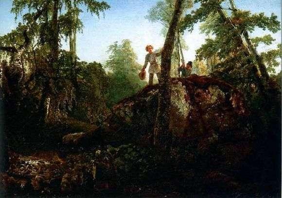 Описание картины Алексея Саврасова «Камень в лесу у разлива»