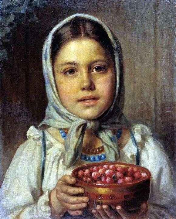 Описание картины Николая Рачкова «Девочка с ягодами»
