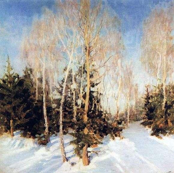 Описание картины Игоря Грабаря «Зимний пейзаж»